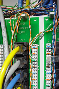 closeup_cat5 how to wire an ethernet and phone jack using a single cat5e cable leviton cat6 jack wiring diagram at gsmx.co