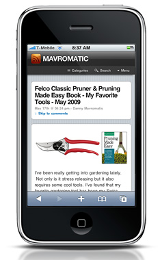 Mavromatic iphone wordpress template