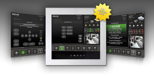 "myro control 8"" inwall touchscreen panel"