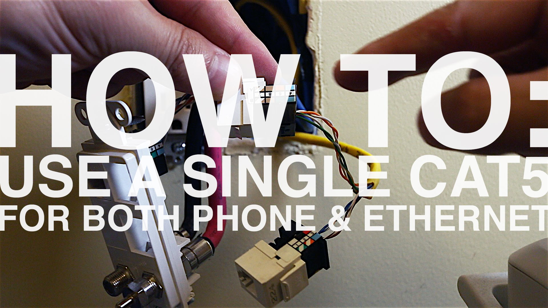 how to: wire an ethernet and phone jack using a single cat5e cable |  mavromatic